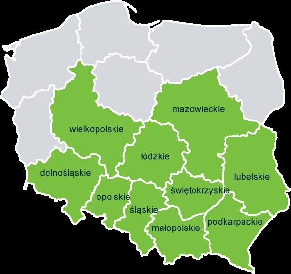 busy do niemiec - mapa polski