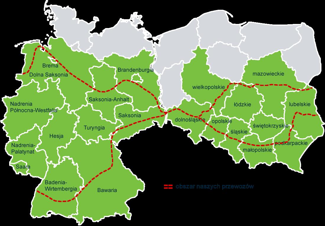 busy do niemiec - mapa polska - niemcy